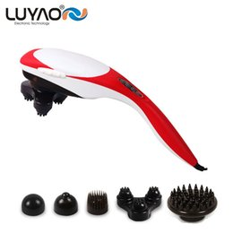 Electric Neck Massager Canada - LUYAO Electric body Relax massager Vibration back neck massage stick Slimming beauty roller for full body massage