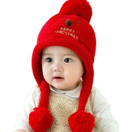 $enCountryForm.capitalKeyWord UK - Unisex Beanies Child Christmas deer Horn Design Knit Earflap Bobbles Ear Hats Kid Winter Warm Add Velvet Earmuffs Caps MZ5222