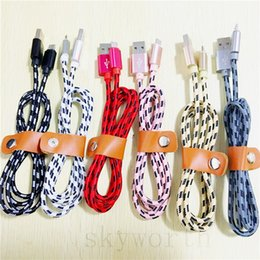 Usb cords for cell phones online shopping - 2A Super Fast charging USB Data Cable FT M Nylon Cord Fiber Fabric Braided Charger cables For Smartphone Cell Phone