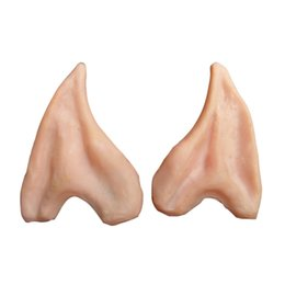 cosplay elf ears 2019 - Wholesale-Halloween Party Cosplay Accessories Latex Soft Pointed Prosthetic Wizard Elf Fairy Hobbit Vulcan Spock Alien C