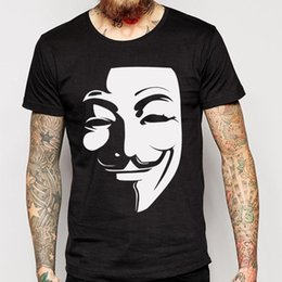 Discount vendetta shirts - V for Vendetta T Shirts Men O Neck Short Sleeve Cotton Man Shirt Euro Size Mens Tees Free Shipping