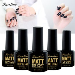 Laca De Gel Barato Baratos-Venta al por mayor-Saroline Matt Matte Top Coat Nail Gel Polonia Nail Art Consejos Dull Lacquer Matt Top Gel acabado Top Coat Long Lasting Gel barato
