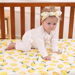 $enCountryForm.capitalKeyWord Canada - 120*120cm Baby 100% Cotton Muslin Swaddle Blanket Gift Set Newborn Infant Flamingo Deer Bath Towel With Headband 2pcs