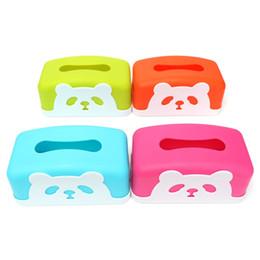 $enCountryForm.capitalKeyWord NZ - Wholesale- 4 Color Rectangle Plastic Panda Tissue Case Box Holder Removable Paper Napkin Home Decorated