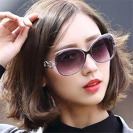 f2b3e20dace Korean Cat Eye Sunglasses Canada - Wholesale- 2017 Luxury Sunglasses Women  Brand Designer Big Size