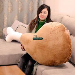 $enCountryForm.capitalKeyWord NZ - Dorimytrader New Fashion 110cm Giant Cute Soft Cartoon Drumstick Plush Pillow 43'' Big Stuffed Anime Chicken Leg Cushion Toy Gift DY60240