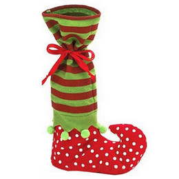 Funny cartoon bags online shopping - Favorable Festival Xmas Decoration Supplies Super Funny Christmas Gift Bag Boot Shaped Christmas Candy Chocolate Bag cm IC830