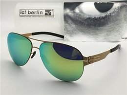 Germany coat online shopping - Germany designer brand sunglasses IC raf s ultra light without screw memory alloy detachable pilots frame coated reflective UV lens with box