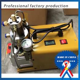 High Pressure Air Compressors Canada - Electrical Air Compressor PCP Inflator for airgun High Pressure 300Bar 4500psi Paintball Refilling 220V air rifles