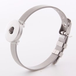 $enCountryForm.capitalKeyWord Australia - Adjustable Stainless Steel Straps Snap Button Bracelet Fashion Women DIY Jewelry Interchangeable 18mm Ginger Snaps Charms