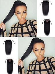 $enCountryForm.capitalKeyWord Australia - dora 20inch Black color natural human hair easy wear ponytail hairstyles yaki straight style for long hair