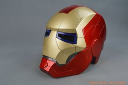 $enCountryForm.capitalKeyWord Canada - Iron Man Motorcycle Helmet Mask Tony Stark Mark 7 Cosplay Mask with LED Light Collection Model For Adult and Teen