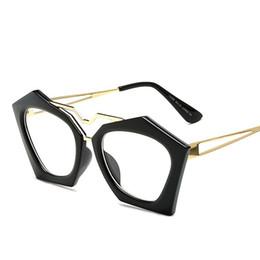 e9cb0265df3 Wholesale Designer Eyeglass Frames Canada - Wholesale- Fashion Women  Eyeglasses Frame Brand Designer Polygon Vintage