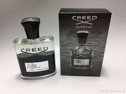 Großhandel New Creed Aventus Parfüm für Männer 120ml mit lang anhaltender Zeit gute Qualität hoher Duft Capactity Freies Verschiffen