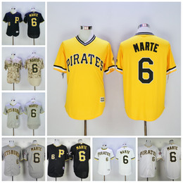 7f21140f8 italy 6 starling marte authentic jersey mens pittsburgh pirates majestic mlb  baseball jerseys flexbase collection cool