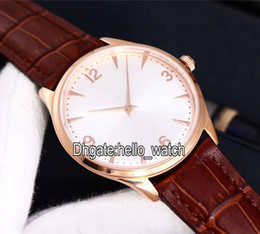 $enCountryForm.capitalKeyWord NZ - Cheap New Master Ultra Thin Q1342420 White Dial Mechanical Hand-winding Rose Gold Mens Watch Brown Leather Strap Gent Watches hello_watch