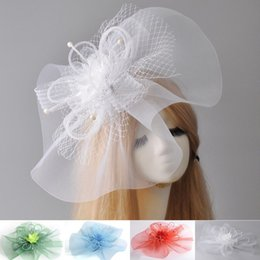 $enCountryForm.capitalKeyWord Canada - 4 Colors Lady Girl Woman Large Fascinator Veil Net Hat Flower Mesh Wedding Party Races Handmade Hair clip hairpieces