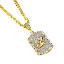China 3mm Chain Gold Plated Hip-Hop Iron Alloy 100 Jesus Rhinestone Military Pendant Women Men Necklace Black People Jewelry supplier rhinestone jesus jewelry suppliers