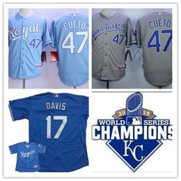 38434dcef ... World Series Champions Gold Mens Kansas City Royals Wade Davis Cool  base baseball Jerseys stiched 47 Johnny Cueto Royals 2015 ...