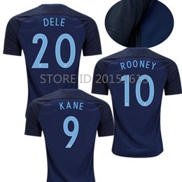 ... 2017 18 World Cup England Away Soccer Jerseys Blue maillot foot 2017 2018  KANE STURRIDGE STERLING ... a4f3fd0be