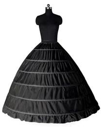 e520125b1d 2017 Negro Blanco accesorios de la boda vestido de fiesta 6 faldas de boda  más tamaño vestidos de novia Slip crinolina enaguas para el vestido de boda