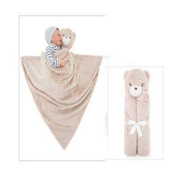 $enCountryForm.capitalKeyWord Canada - 7types Kavkas Baby Blanket Double-Woven Banket Coral Fleece Plush Baby Bedding Animal Toy Head Plush Gift For Newborn Baby Soft Warm
