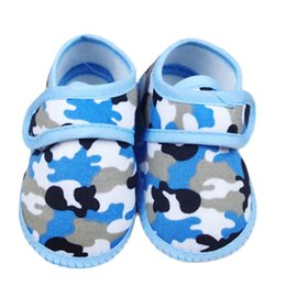 Baby Girl Summer Canvas Shoes Australia - Newborn Baby Shoes Camouflage Girl Boy Soft Sole Crib Toddler Shoes Canvas Sneaker Soft Bottom First Walkers Wholesale