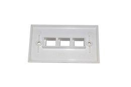10 piezas / lote de 3 puertos de placa frontal de red 120 tipo placa de pared de tipo americano para jack de piedra angular