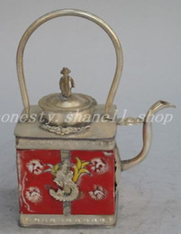 $enCountryForm.capitalKeyWord Canada - Elaborate Chinese ancient white copper and red ceramic teapot