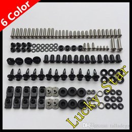 kawasaki ninja zx6r body kit NZ - 100% For KAWASAKI NINJA ZX6R ZX-6R ZX 6R 636 ZX636 2009 2010 2011 2012 09 10 11 12 Body Fairing Bolt Screw Fastener Fixation Kit K-01