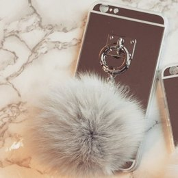 $enCountryForm.capitalKeyWord UK - Silver Metal Rope Mirror Tassel case phone fake fur ball For Galaxy J310 2016 For Galaxy J210 2016 Back Cover Case