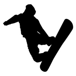 Discount figure skating accessories - Figure Skating Ski Snowboarding Stickers Car Window Glass Body Decoration Decal Accessories