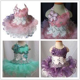 $enCountryForm.capitalKeyWord Canada - Pink Lace Toddler Pageant Halter Cupcake Dress Baby Girls Short National Glitz Tutu Formal Wear Cupcake Dresses For Infant Pageant Party