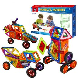 Plastic Magnet Blocks NZ - 98 PCS Set Magnetic Building Blocks Kids Magnet Construction Toy Rainbow Color for Creativity Educational Children's Christmas Gift wit