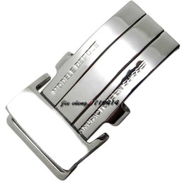 watches for men panerai UK - 20mm NEW High Quality Men Women Stainless Steel Watch Band Strap Buckle Silver Deployment Clasp for Breitling Band