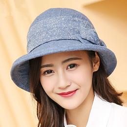 e65b2f90b25 Women s 100% Cotton Floral Bucket Hat Summer Fishing Beach Hats Anti-UV Sun  Protection Cap For Girl Outdoor Folded Sun Caps