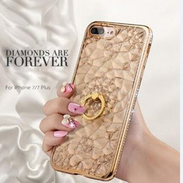 sunflower rings 2019 - Luxury Plating Colorful Rhinestone Sunflower Case for iphone X 8 7 6 6S Plus Samsung S6 S7 S8 S9 Plus Soft TPU Diamond R
