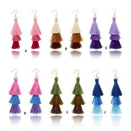 gold earring drops designs 2019 - Handmade Tree Design Tassel Earrings Bohemia Style 3 Layers Tassel Drop Earring For Women Gift Wholesale discount gold e