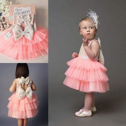 beautiful little girls dresses for weddings jewel sleeveless girls pageant dresses open back with bows tiered ruffle custom birthday dresses