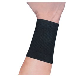 Wholesale PROMOTION Pair Black Stretchy Band Letters Print Wrist Support Protector