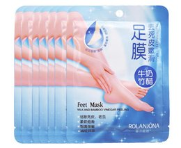 $enCountryForm.capitalKeyWord NZ - Feet Mask Milk Bamboo Vinegar Peeling Tendering Feet Mask Exfoliating Dead Skin Remove Pro Feet Care 50 Piece Free Shipping