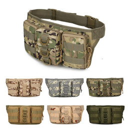 Chinese  Outdoor Molle Waterproof Cycling Pocket Waist Bag Pack Military Tactical Camouflage Climbing Riding Sports Military Bag Pouch manufacturers