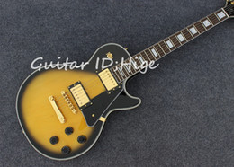 gold burst guitar Canada - new high quality chinese factory custom electric guitar in yellow burst color with gold color hardware , hot selling guitarra