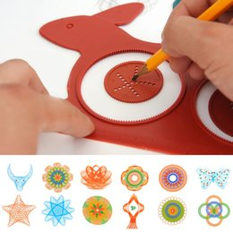 novelties rabbit toy UK - Novelty Spirograph Magic Turtle Rabbit Drawing Board Kids Educational Toy