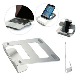 cooling desk for laptop 2018 - Hot Aluminum Laptop Stand Tablet Holder Bracket with Phone Stand Support Cooling Desk Pad for MacBook Holders cheap cool