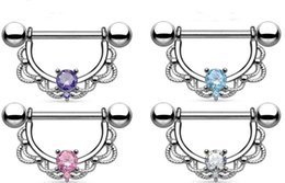 surgical steel nipple rings Canada - 2017 New Nipple ring body piercing jewelry 316L surgical steel bar Nickel-free NEW design mix 3 color for woman