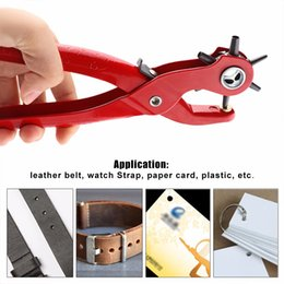 $enCountryForm.capitalKeyWord Australia - Sewing Leather Belt Hole Puncher Pliers Hook Clamp 2 2.5 3 3.5 4 4.5MM Punch Size For Punching Hole Forceps Punch Head