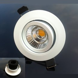 color spot lighting Canada - high color Dimmable LED Downlight 10w 12w COB Led Ceiling Recessed Spot Light Super Bright Down Light AC 110-240V Warm Cold White