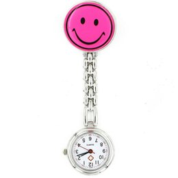 China 2016 Fashion Nurse Watch Smile Face Stainless Steel Medical Watches Brooch Pendant Hanging Pocket Watches Doctor Watches suppliers