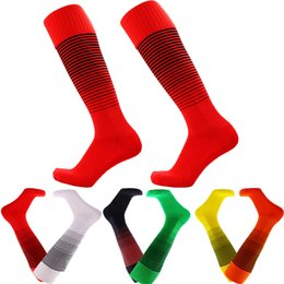 Red Football Team NZ - Free Shipping Mens Non-slip Thicken Towel Sock Long Hose Sports Football team Soccer cotton Socks Breathable Anti-friction Stockings